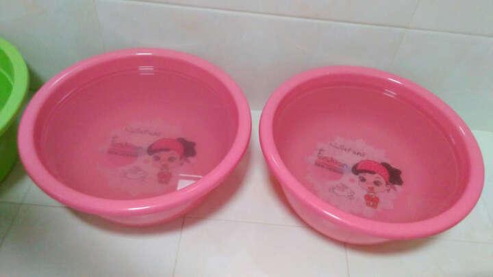 加品惠 脸盆 39cm塑料盆洗衣洗漱盆2只装JY-0657 红色 晒单图