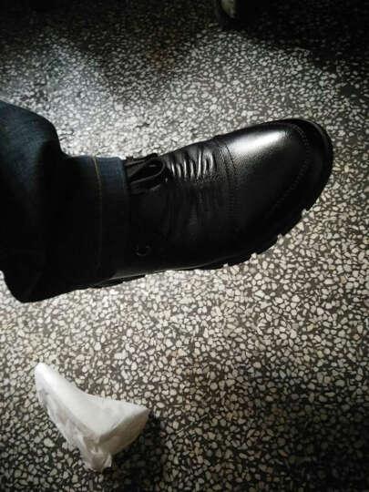 法顿(FADUN) 法顿休闲鞋男鞋冬季休闲皮鞋透气头层真皮系带英伦商务休闲户外鞋子男 绿色-褶皱款 37码 头层牛皮 晒单图