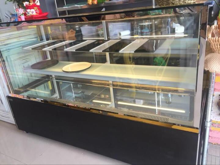 乐创(lecon)商用蛋糕柜冷柜冷藏保鲜柜台式除雾玻璃陈列柜水果饮料寿司熟食柜面包展示柜 黑色弧形风冷带防雾 后开门1.5米*0.67*1.18(落地式) 晒单图
