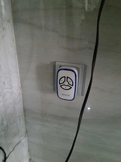 森驰A280别墅门铃无线家用一拖一 交流遥控远距离电子门铃老人呼叫器 3门铃主机+1门铃按钮 晒单图