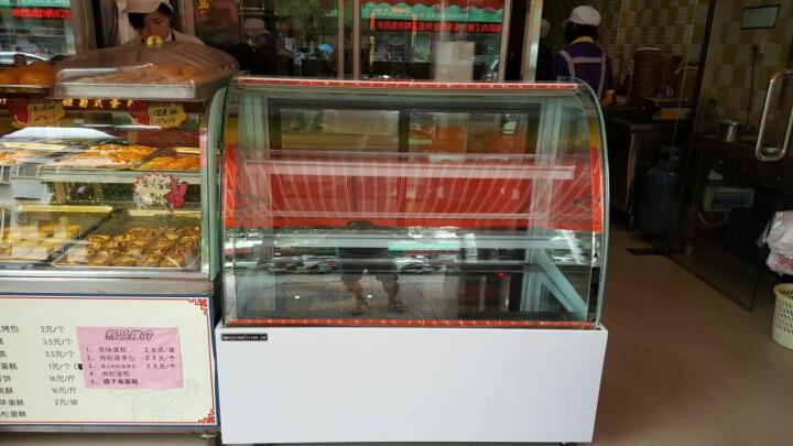 乐创(lecon)商用蛋糕柜冷柜冷藏保鲜柜台式除雾玻璃陈列柜水果饮料寿司熟食柜面包展示柜 白色弧形风冷带防雾 后开门1.5米*0.67*1.18(落地式) 晒单图