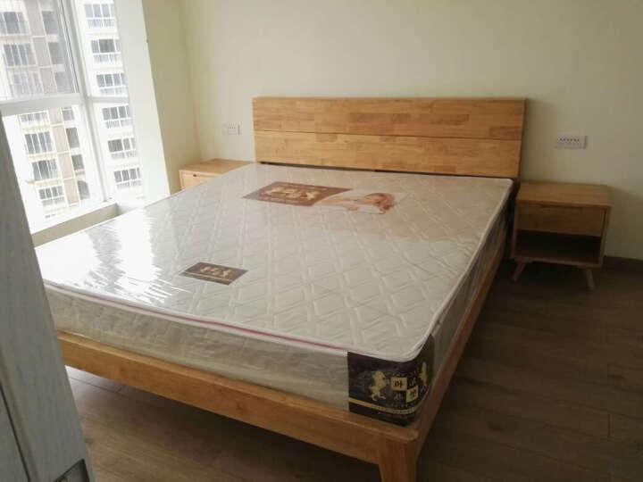 北欧日式床原木全实木床双人床卧室大床tb-08