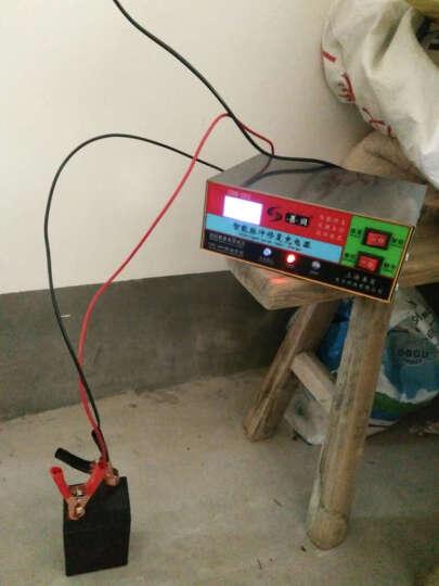 汽车电瓶充电器12V24V伏货摩托轿车蓄电池智能脉冲可调纯铜充电机 晒单图