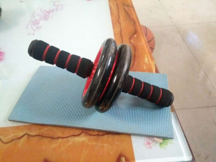 多德士(DDS)健腹轮腹肌轮双轮健身轮(含跪垫) 锻炼运动健身器材家用 腹肌滚轮巨轮健腹器 滚轮直径18.5cm 晒单图