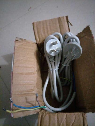 清风电线插座二芯三芯国标电线电缆0.75平方/1平方两芯软护套电源线 灰色 3芯 10米 晒单图