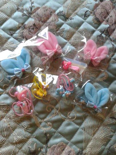 韩版儿童头饰韩国儿童发饰品女童配饰碎花立体耳朵发夹 印点款 粉色 晒单图