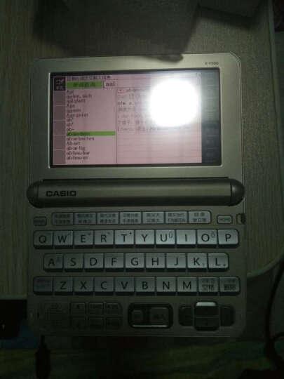 卡西欧(CASIO)E-Y400GD 电子词典 法英汉辞典 法语学习 香槟金 晒单图