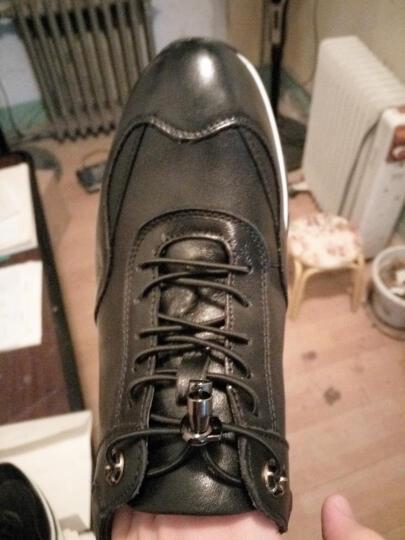 老船长休闲鞋男鞋新款时尚英伦休闲皮鞋头层牛皮鞋子男 红色 40 晒单图
