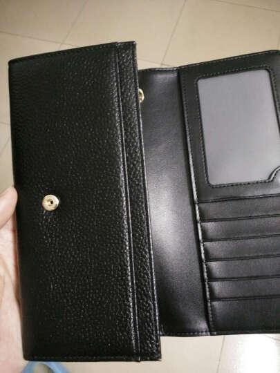CORALDAISY 新款牛皮女士钱包 女式手拿长款手机钱包卡包女韩版手包SSQB5044 黑白配 晒单图
