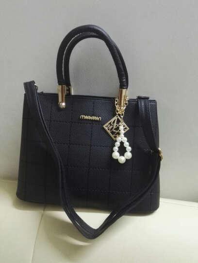 淑女芭莎(SHUNVBASHA)单肩包女包上新时尚简约挂件斜跨手提包包8902 天蓝色 晒单图