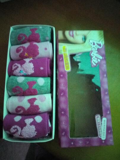 芭比(Barbie)袜子 女童秋冬6双组袜子 87693 女 18-20cm适合5-6岁 晒单图