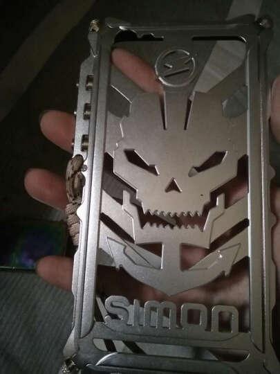 ZIMON 手机壳保护防摔金属机械手臂边框骷髅头手机套 适用于vivo/x7/x7plus 大屏vivoX7plus银色--骷髅头 晒单图