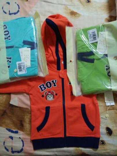 纤丝鸟(TINSINO)童装儿童新款男童女童抓绒卫衣开衫外套THY0533438L9 字母潜水熊 果橙 80 晒单图