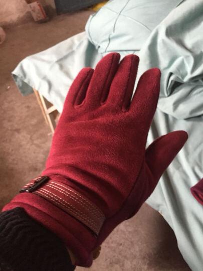 外滩故事触摸屏电容屏触摸 保暖时尚不倒毛手套女冬季新款 Ma-31灰色 晒单图