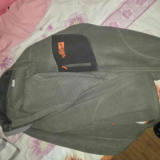 安踏男装  休闲抓绒上衣 远红外保暖科技立领开衫 95546711 藤褐色-4 XL/180 晒单图