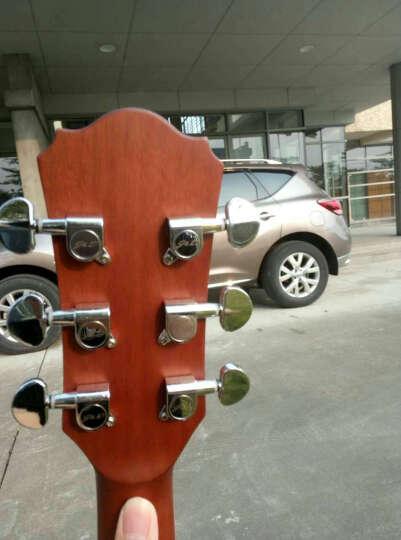 J&DBrothers入门41寸缺角初学民谣古典原木色木吉他电箱吉他jita D-8CE原木色电箱款 D桶 晒单图