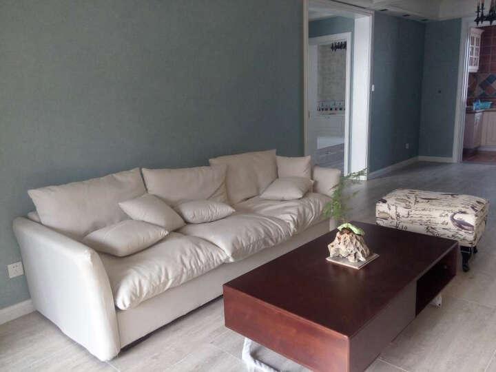 小户型沙发日式乳胶布艺沙发简约北欧三人位转角组合羽绒沙发 其他颜色(公仔棉填充) 双扶手大三人位2.4M+双脚踏 晒单图