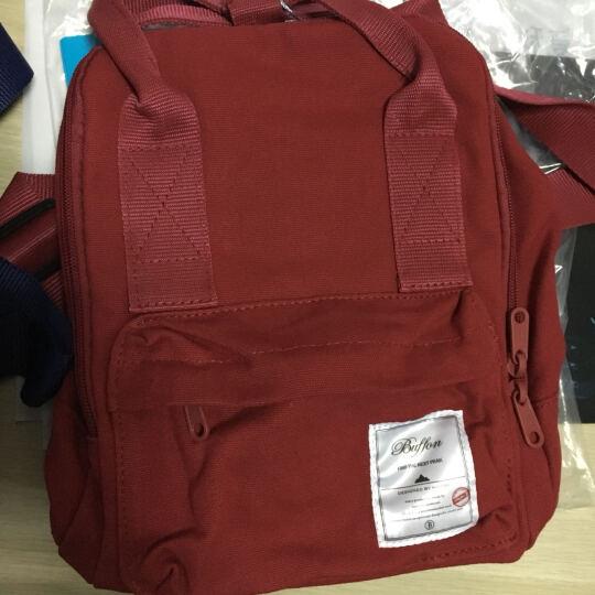 百峰(Baifeng)BF15S33A malta马耳他系列防泼水棉质帆布mini双肩包 橙色大号 晒单图