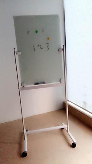 乖乖博士(GuaiGuaiBoShi) 磁性防爆钢化玻璃白板支架式可移动办公教学写字板 烤漆支架玻璃白板60*90 晒单图
