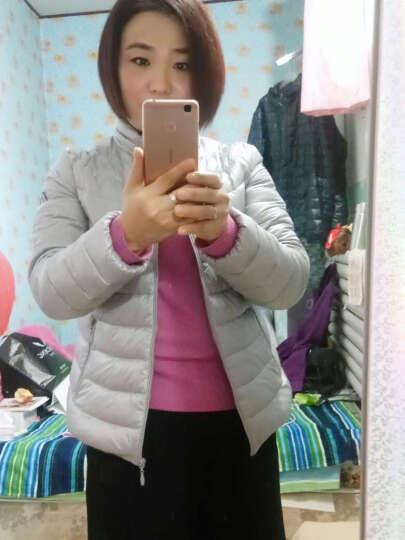 波司登(BOSIDENG)女 秋季轻薄修身韩版甜美短款羽绒服B1601010 1006(梦幻紫红) 170/92A 晒单图