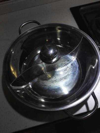 野虎(YE-HU) 鸳鸯锅火锅锅具不锈钢火锅盆电磁炉专用火锅锅 鸳鸯火锅32cm 晒单图