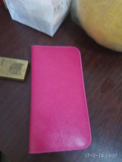 手机钱包女长款超薄日韩软皮通用手机包男女士手拿包青年潮 黑色 晒单图