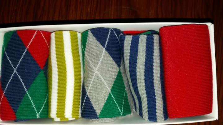 宝娜斯(BONAS)儿童袜子男童女童宝宝棉袜秋冬季保暖袜子5双装 10-12岁 B1609 晒单图