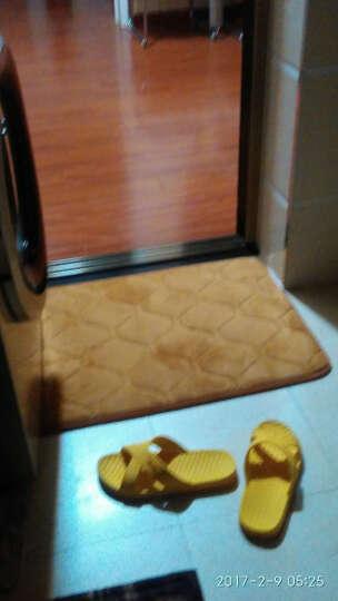 乔之宇 慢回弹记忆海绵珊瑚绒地毯 吸水防滑垫子 厨房卫生间浴室门口地垫 2CM加厚 网格酒红 批量定制-联系客服改价格 晒单图