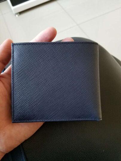 PRADA 普拉达 男士黑色水银色牛皮短款对折钱包钱夹 2MO738 2E3C F0R8F 晒单图