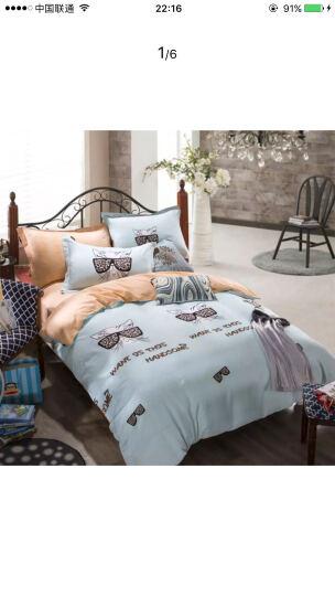 京童家纺 床上用品 简约四件套 全棉床单式床上用品四件套 1/500 波点 绿 1.5-1.8米床被套200*230cm 晒单图
