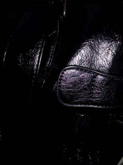 魅各(VEGOO)旅行包男单肩斜挎包休闲手提包男旅游出差行李包8528# 舒蜡纹(黑色)小款 晒单图