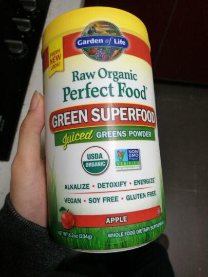 美国Garden of Life生命花园完美食物有机绿色食物苹果粉234g  晒单图