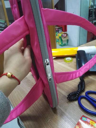 森迪威女士韩版13.3/14英寸电脑包15.6英寸 苹果戴尔惠普华硕神舟笔记本包手提单肩包 玫瑰红色 可装14英寸/13.3 电脑 晒单图