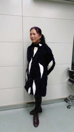 欧偲麦 皮草女外套秋冬季保暖中长款羊羔毛拼色大衣羊剪绒皮毛一体女装 2139 红黑 M 晒单图