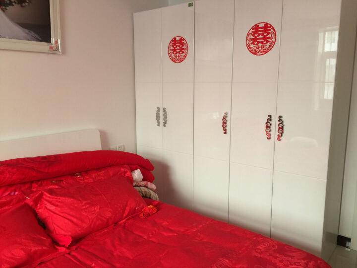 双虎(SUNHOO) 双虎家私 衣柜 组合衣柜烤漆大衣橱/木质立柜 卧室整体储物家具B2 白色如图 五门衣柜 晒单图