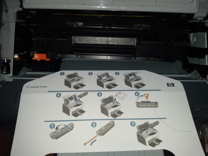 惠普(HP)LaserJet Pro P1106黑白激光打印机 A4打印 USB打印 小型商用打印 晒单图