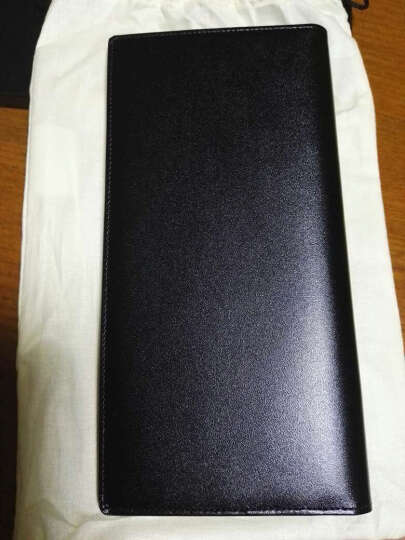 MONTBLANC万宝龙 男士大班系列黑色中长款钱包/钱夹 35790 晒单图