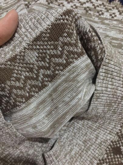 领般【时尚条纹】毛衣男2018春季新款 男士圆领套头针织衫长袖保暖韩版打底衫型男百搭 16020灰色 2XL 晒单图