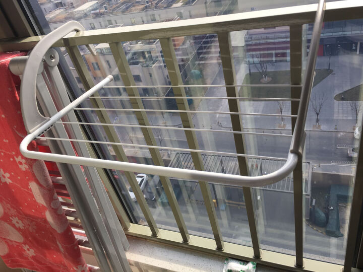 哈骆顿(HALODN)新款折叠阳台护栏窗外晒鞋架暖气片毛巾架暖气片晾衣架 买三送一 晒单图