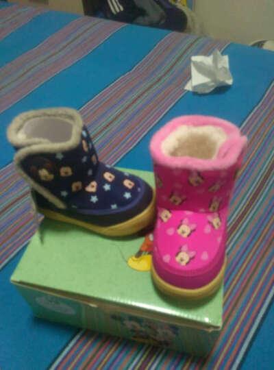 迪士尼(Disney) 童鞋宝宝鞋子雪地靴子短靴男童女童保暖棉鞋软底防滑学步鞋 靴子 XZB40195大红 150mm/内长15cm 晒单图