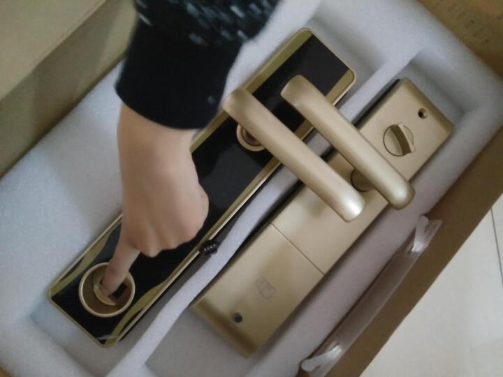 塞纳春天指纹锁 家用智能防盗门锁 电子密码锁 SNCT-K5 红古铜滑盖指纹锁-5s自动滑落 晒单图