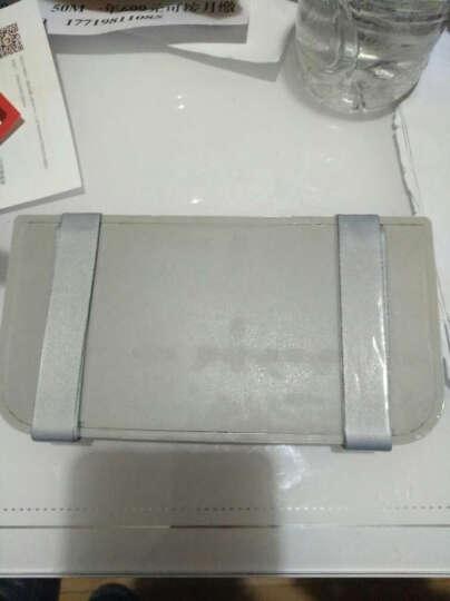 stwin 汽车载车用插卡遮阳板票据卡片眼镜夹名片夹停车卡整理收纳袋 奥迪A4L A6L Q5 Q3 Q7 A3 米色款 晒单图