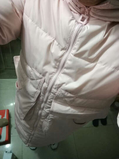 omlesa2016秋冬新款韩版大毛领宽松加厚大口袋羽绒服女中长款羽绒外套潮女YR4115 粉色 XL 晒单图