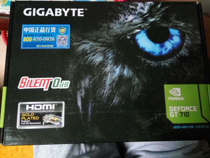 技嘉(GIGABYTE)GeForce GT710SL-2GL 954MHz/1800MHz 2GB/64bit GDDR3显卡 晒单图