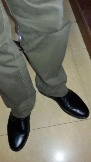 富贵鸟(FUGUINIAO)皮鞋男鞋牛皮商务休闲鞋新款冲孔男士商务皮鞋软面皮透气英伦风婚鞋 FG17034  黑色 41 晒单图