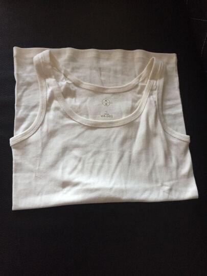素道天然有机棉背心 女士背心薄款 打底百搭无染色漂白 亲肤舒适 棕白色 160/M 晒单图