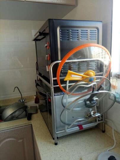 四季沐歌 微波炉架子厨房置物架不锈钢落地烤箱架 63CM单层 晒单图