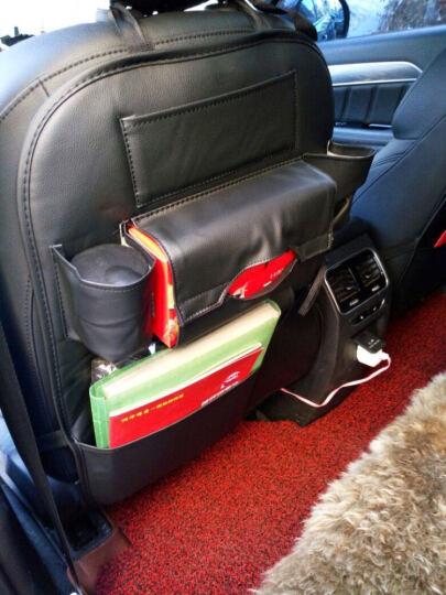 車格仕 汽车椅背收纳袋 多功能整理储物袋车载置物袋挂袋汽车靠背箱盒垃圾桶盒改装专用汽车用品 温馨米 1个装 奥迪A3新A4LA6LQ3Q5Q2R8A4A6 晒单图