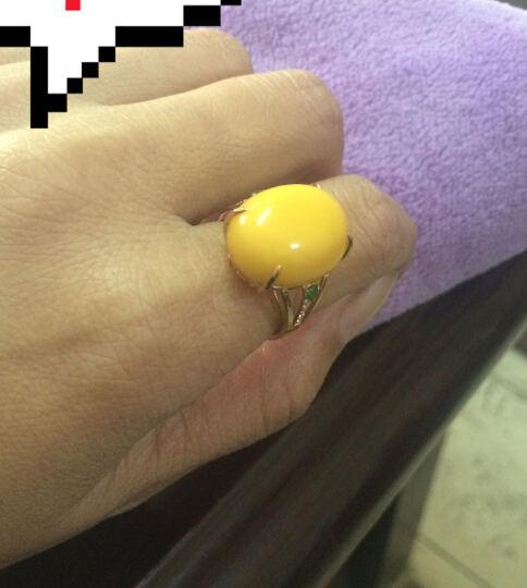 欧采妮珠宝 天然蜜蜡戒指 18K玫瑰金琥珀蜜蜡戒指 彩宝戒指(新蜜戒面) 7-10个工作日高级定制 晒单图