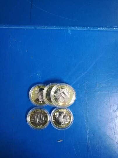 灿网藏品  2017年鸡年纪念币 生肖贺岁鸡币 10元面值双色流通纪念币 10枚盒装含币 红内衬 晒单图